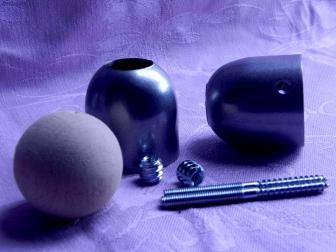 Соединение перила шар, цвет серый металлик, фотография 3
