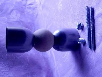 Соединение перила шар, цвет серый металлик, фотография 4