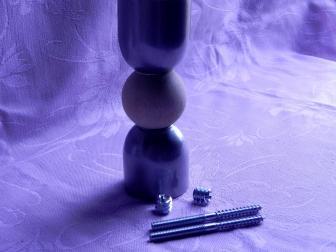 Соединение перила шар, цвет серый металлик, фотография 5