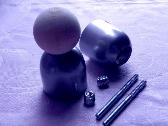 Соединение перила шар, цвет серый металлик, фотография 6