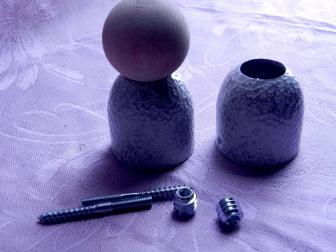Соединение перила шар, цвет античное серебро, фотография 2