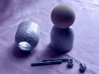 Соединение перила шар, цвет античное серебро, фотография 3