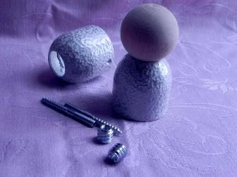 Соединение перила шар, цвет античное серебро, фотография 4