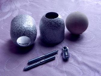 Соединение перила шар, цвет античное серебро, фотография 5