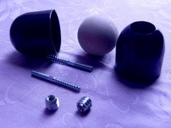 Соединение перила шар, цвет черный графит, фотография 1