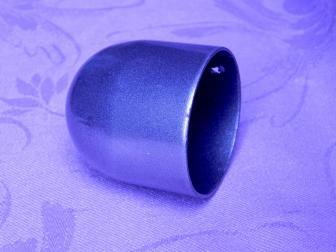 Заглушка поручня стартовая, цвет серый металлик, фотография 4
