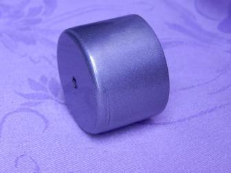 Заглушка поручня финишная, цвет серый металлик, фотография 3