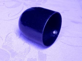 Заглушка поручня стартовая, цвет черный графит, фотография 2